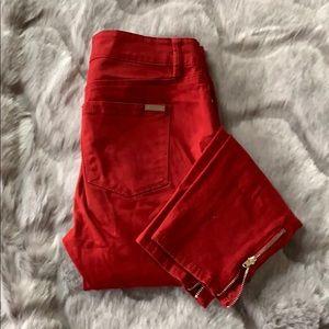 White House Black Market dark red jeans